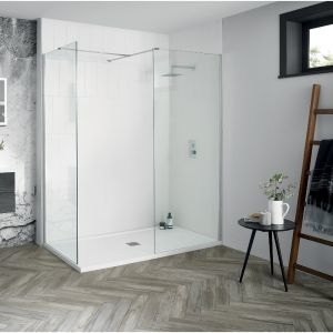 Aquadart Walk-In Wetroom 8 Shower Panel 500mm