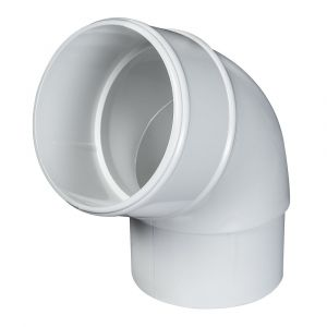 White 68mm Round Rain Water 112 Degree Offset Bend