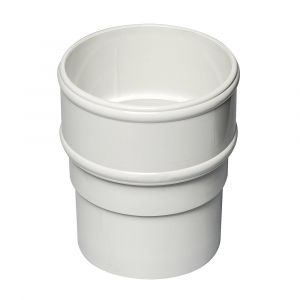 White 68mm Round Rain Water Pipe Connector