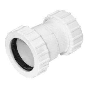 White 40mm x 32mm Universal Waste Reducer