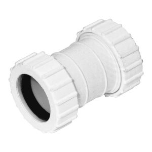 White 40mm Universal Waste Connector
