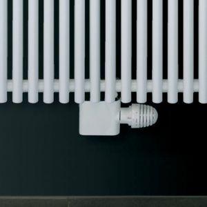 Eucotherm White Angled 50mm Central Radiator Valve