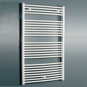 Eucotherm White Zeus Towel Radiator 1290mm x 596mm