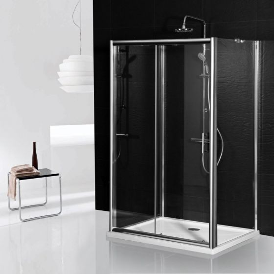 Aqua-I 3 Sided Shower Enclosure - 1200mm Sliding Door and 760mm Side Panels