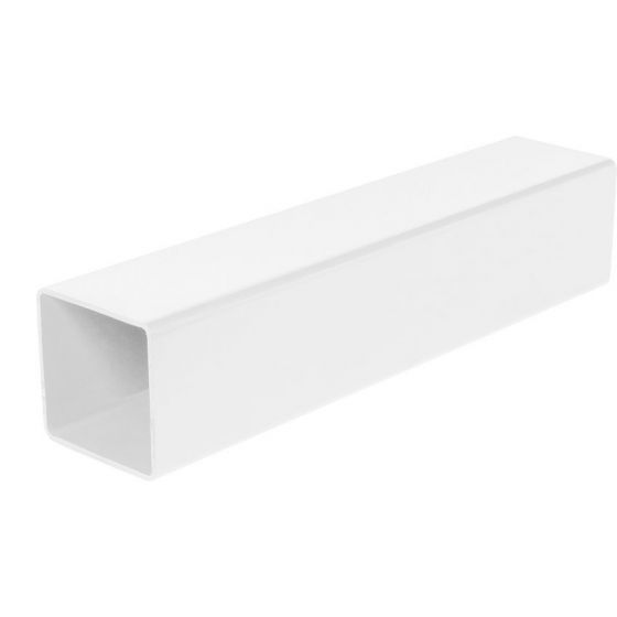 White 68mm Square Rain Water Down Pipe - 5.5m Length