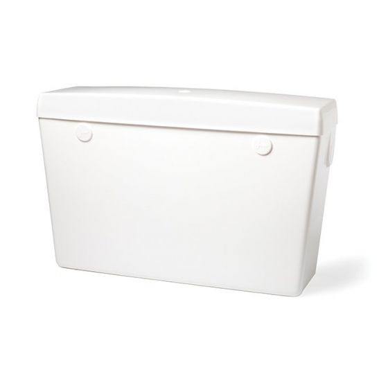 White High Level Plastic Cistern White - Side Inlet