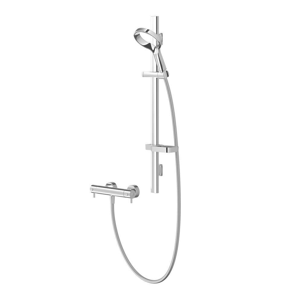 Methven Aio Aurajet Cool Touch Bar Mixer Shower Kit - Chrome