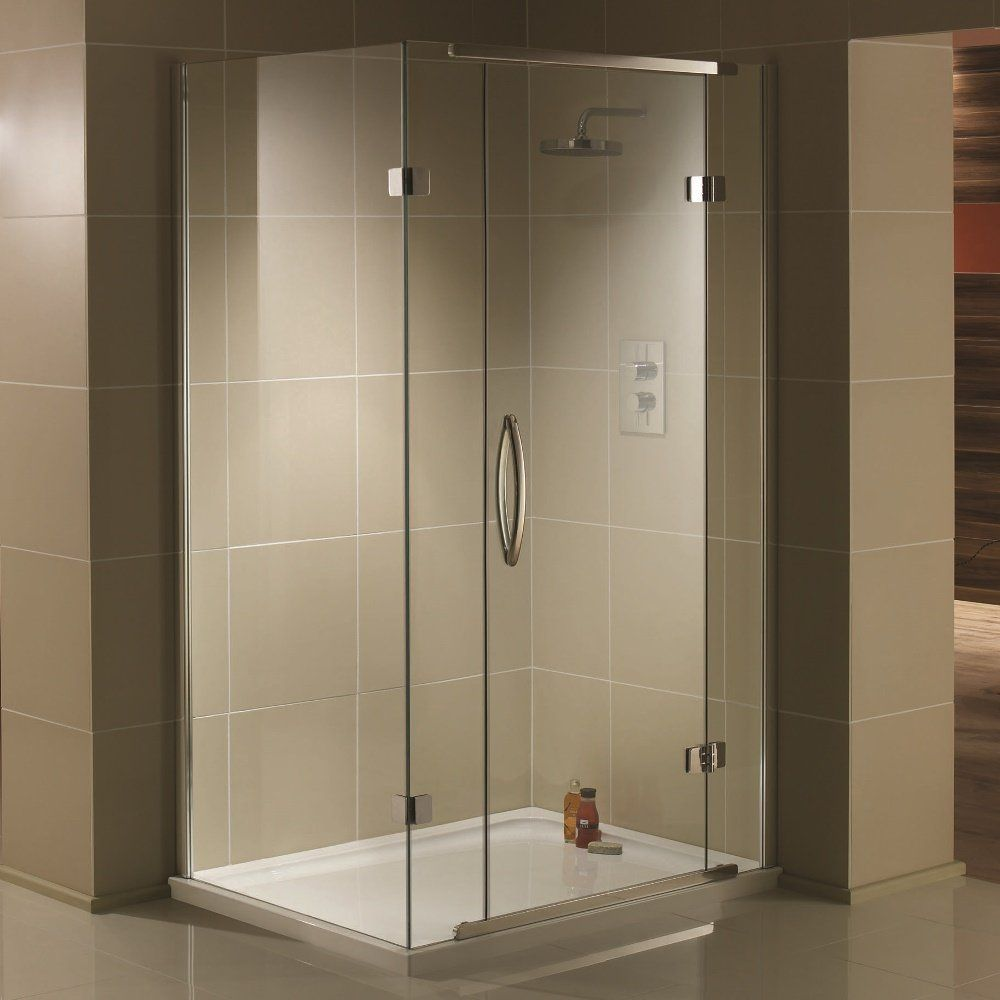Aquadart Inline 2 Sided Hinged Shower Enclosure 1200mm x 900mm