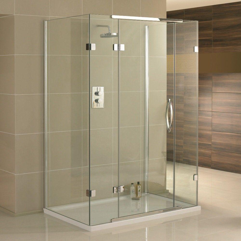 Aquadart Inline 3 Sided Hinged Shower Enclosure 1200mm x 800mm