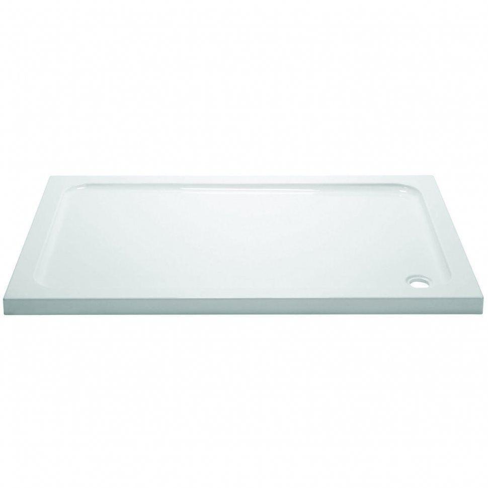 Aquadart Rectangle Slimline Shower Tray 1600mm x 700mm Flat Top