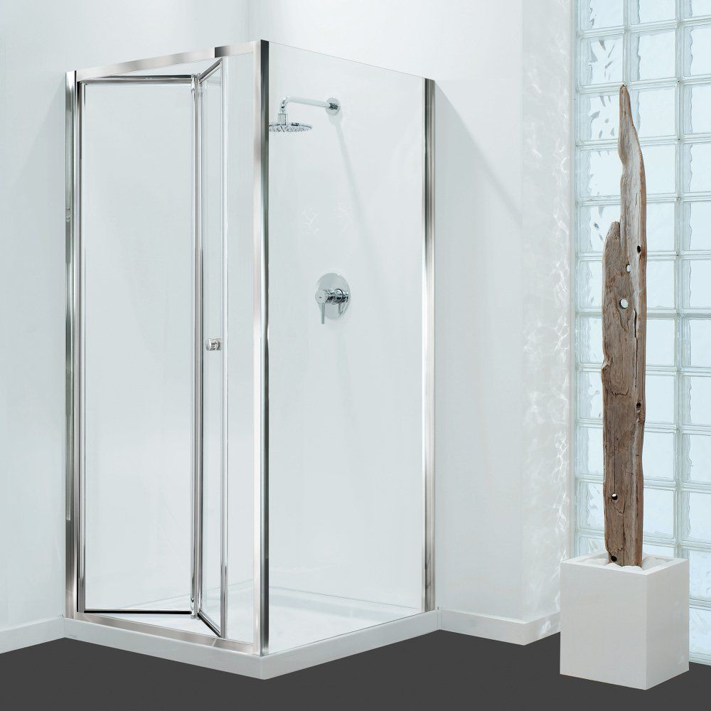 GB 3 Sided Shower Enclosure - 700mm Bifold Door and 700mm Side Panels