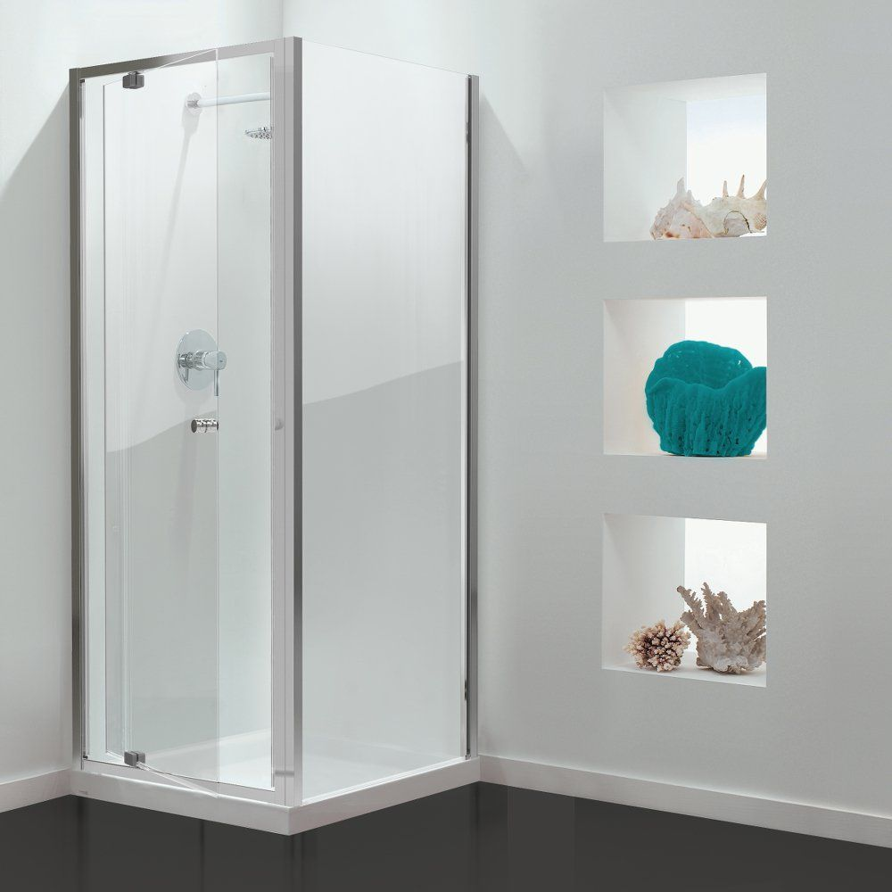 GB 3 Sided Shower Enclosure - 760mm Pivot Door and 900mm Side Panels