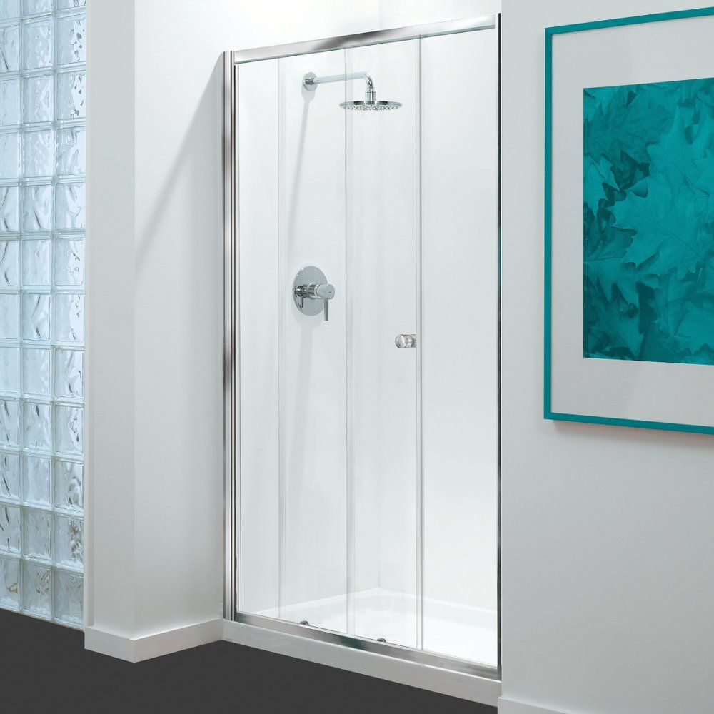 GB 3 Sided Shower Enclosure - 1200mm Sliding Door and 700mm Side Panels