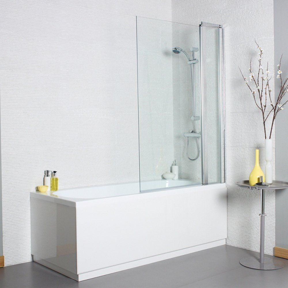 Kartell Koncept Square Bath Screen With Extension Panel 1400mm X 1000mm