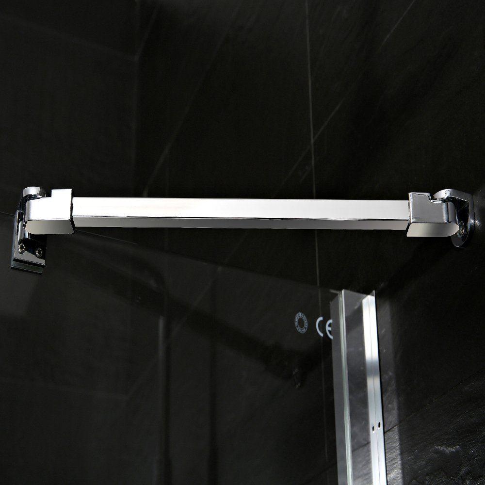 Aqua-I 3 Sided Shower Enclosure - 1200mm Sliding Door and 760mm Side ...