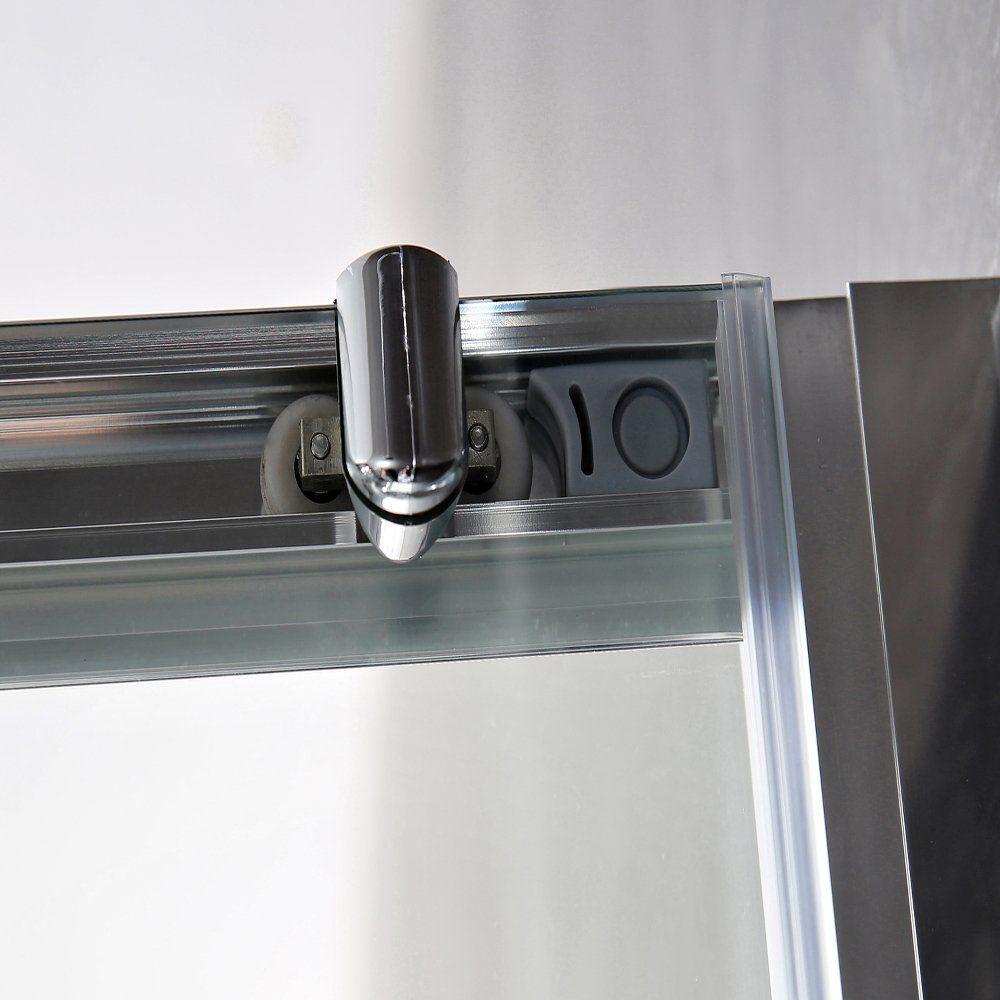 Aqua-I 3 Sided Shower Enclosure - 1000mm Sliding Door and 800mm Side ...