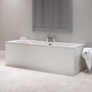 Roma 1 Piece White MDF Bath Panel - 700mm long