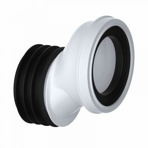 110mm 40mm Offset WC Pan Connector