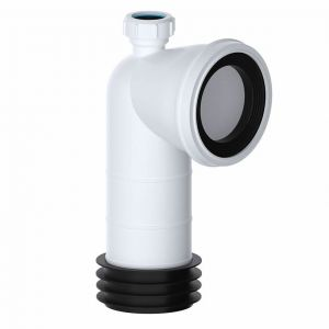 110mm 90 Degree Bend WC Pan Connector with 32mm Inlet