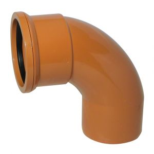 110mm Underground 87 Degree Single Socket Bend