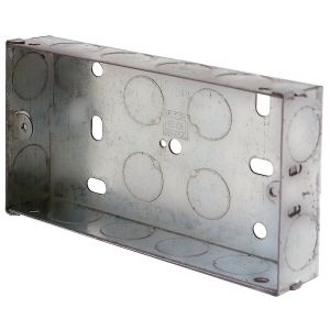 2 Gang Galvanised Installation Box 25mm Deep