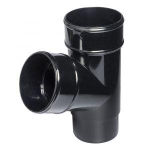 Black 68mm Round Rain Water 112 Degree Branch