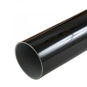 Black 68mm Round Rain Water Down Pipe - 2.5m Length