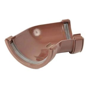 Brown 112mm Half Round 135 Degree Gutter Angle