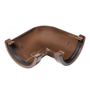Brown 112mm Half Round 90 Degree Gutter Angle