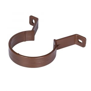 Brown 68mm Round Rain Water Down Pipe Clip