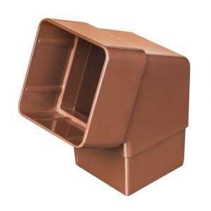 Brown 68mm Square Rain Water 112 Degree Offset Bend