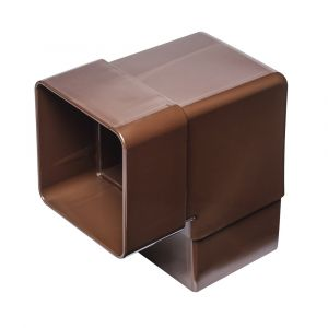 Brown 68mm Square Rain Water 90 Degree Offset Bend