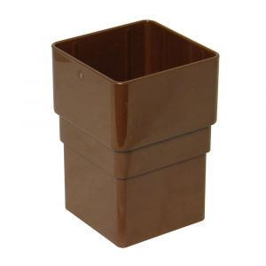 Brown 68mm Square Rain Water Connector