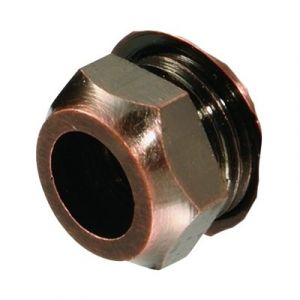 Coin Bronze 8mm Restrictor Elbow Nut Only