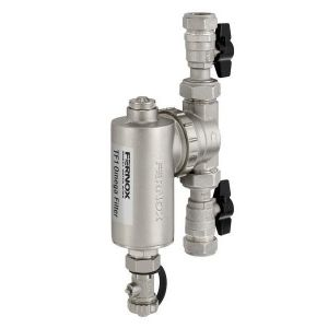 Fernox TF1 22mm Omega Central Heating Filter with Valves