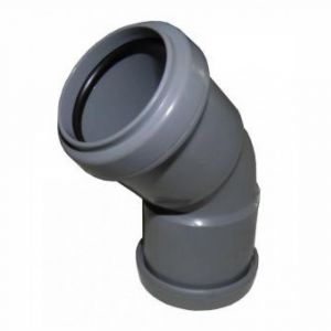 Grey 50mm Pushfit Waste 135 Degree Bend