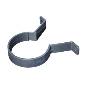 Grey 68mm Round Rain Water Down Pipe Clip