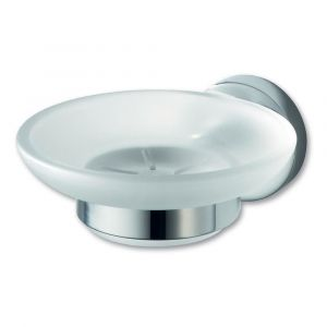 Kosmos Chrome Glass Soap Holder