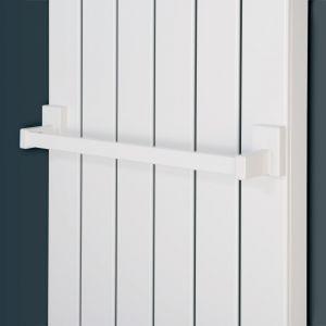 Eucotherm White Magnetic Towel Rail 400mm