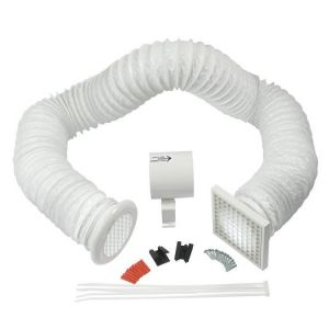Manrose In-line Shower Fan Kit with PVC Duct and Grilles 100mm / 4