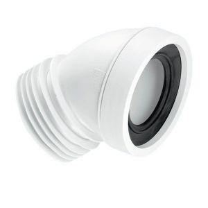 McAlpine WC-CON16 110mm 45deg Angle Rigid WC Connector