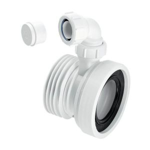 McAlpine WC-CON1V 110mm Straight Rigid WC Connector with 32mm Inlet