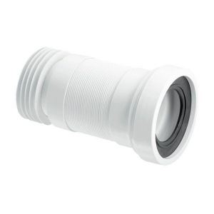 McAlpine WC-F18R 110mm Flexible WC Pan Connector  - Adjusts 100mm - 160mm