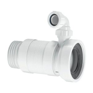 McAlpine WC-F26SV 110mm Flexible WC Pan Connector with 32mm Inlet - Adjusts 170mm - 410mm