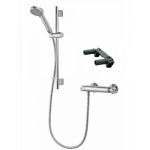 Aqualisa Midas 100 Bar Mixer Shower With Adjustable Head and Easy Fix Bracket Chrome