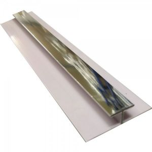 Silver PVC H Joining Strip H2700mm D5mm