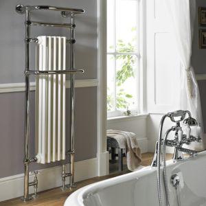 Vogue Regency Tall 1500mm x 500mm Chromed Brass Radiator - Legacy Joints