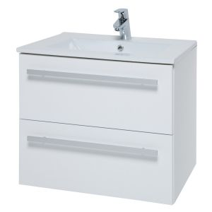 Kartell Purity White 600mm Wall Hung Basin Unit with Drawers