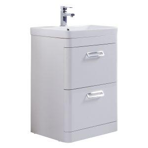 Kartell Metro 500mm Floor Standing Basin Unit with Ceramic Basin
