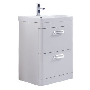 Kartell Metro 600mm Floor Standing Basin Unit with Ceramic Basin